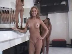 Four shemales with hot bodies jerk off