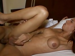 Hot shemale implements her wild anal dreams