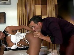 Experienced shemale likes engulfing dicks very much