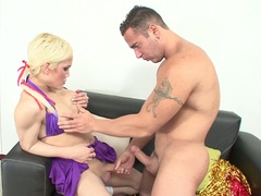 Shemale cheerleader gets his ass banged
